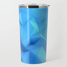 Pale Blue Geometric / Pale Blue Crystal / Geometric Pattern, Abstract Pattern, abstract ocean waves Travel Mug