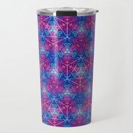 D20 Icosahedron Mandala Pattern Travel Mug