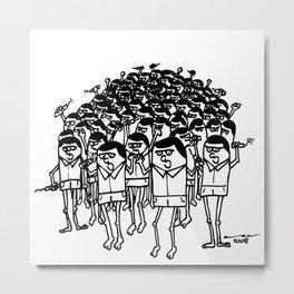 TNT Mob Metal Print