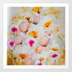 Flowers in Spring Art Print