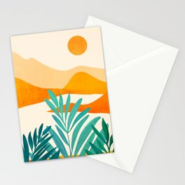 Alpine Sunset / Abstract Landscape Series Stationery Cards