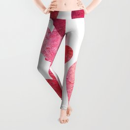 Pink Grungy Hearts Leggings
