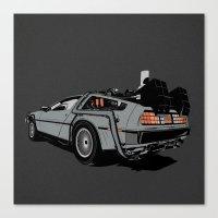 delorean Canvas Prints featuring DeLorean by CranioDsgn