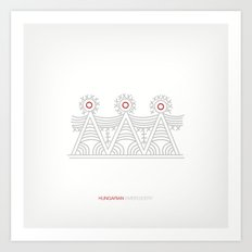 Hungarian Embroidery no.1 Art Print