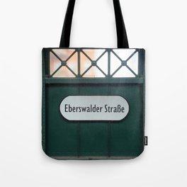 Berlin U-Bahn Memories - Eberswalder Straße Tote Bag