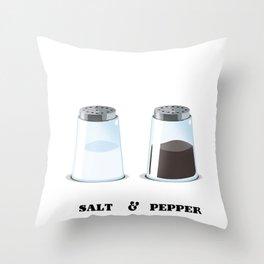 Salt & Pepper Throw Pillow
