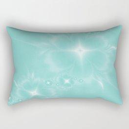 Fleur de Nuit in Aqua Tone Rectangular Pillow