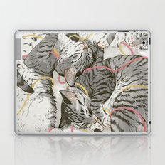 cats gold and rose Laptop & iPad Skin