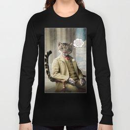 Sir Sebastian Snow Leopard Long Sleeve T-shirt