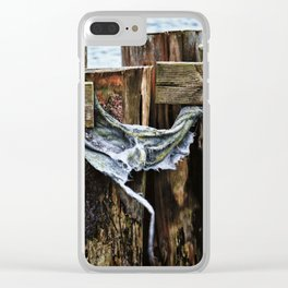 Tattered And Torn Clear iPhone Case