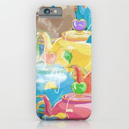 Tea Love Teapots iPhone Case
