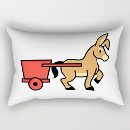 Mule and cart icon Rectangular Pillow