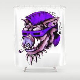 Beebop Don't Stop Shower Curtain