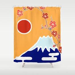Mount Fuji and Sun Rise Shower Curtain