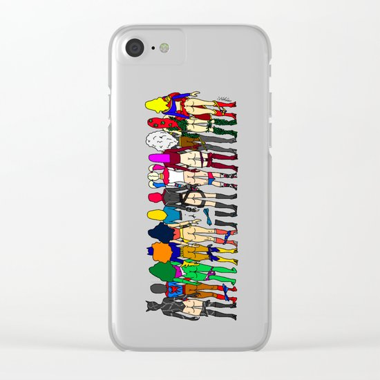 Superheroine Butts Clear iPhone Case