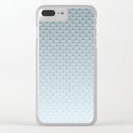Gray blue geometric pattern Clear iPhone Case