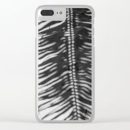 Palm Tree Shadow on Sand in Black and White Clear iPhone Case