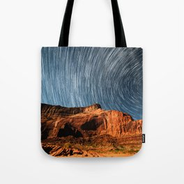Stars on the Cliffside Tote Bag
