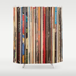 Alt Country Rock Records Shower Curtain