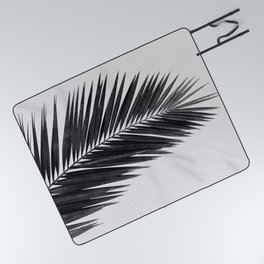 Palm Leaf Black & White I Picnic Blanket