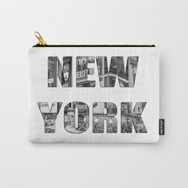 New York  B&W typography Carry-All Pouch