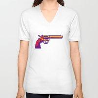 monty python V-neck T-shirts featuring Colt Python by Nick Ellsworth
