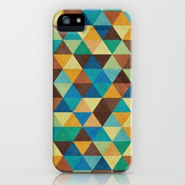 Triangles and Colors iPhone Case