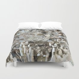 Leap - Sculpture Collage Photomontage Duvet Cover