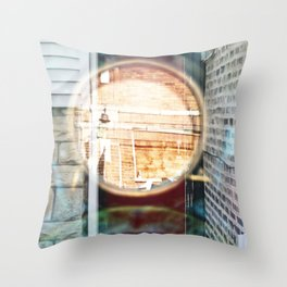 Portal Door - Double Exposure Throw Pillow