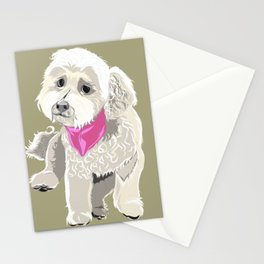Bichon Poodle mix Puppy Portrait Stationery Cards