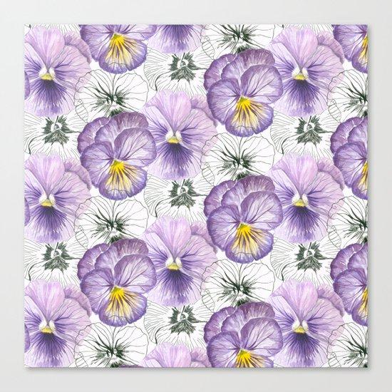 Pansy pattern Canvas Print
