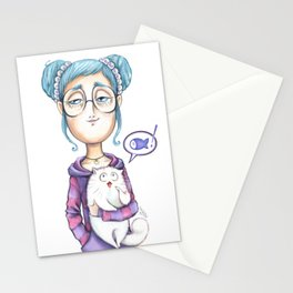 The always hungry cat Stationery Cards