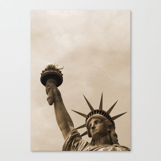 Lady Liberty sepia Canvas Print
