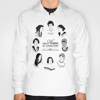 literature Hoodies featuring Great Women of Literature by geeksweetie
