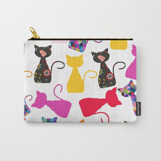 Cats pattern #4 Carry-All Pouch