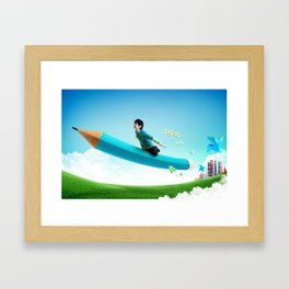 Dreaming in Education. Framed Art Print