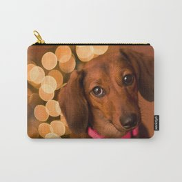 Dachshund Christmas Carry-All Pouch