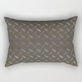 Metal - Checker plate gold reflections Rectangular Pillow