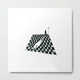 White Shadow-sketch Metal Print