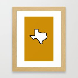 Texas Longhorns Framed Art Print