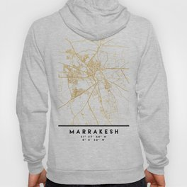 MARRAKESH MOROCCO CITY STREET MAP ART Hoody