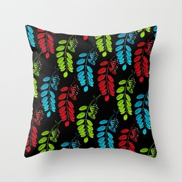 Red, Green and Blue Black Locust Throw Pillow