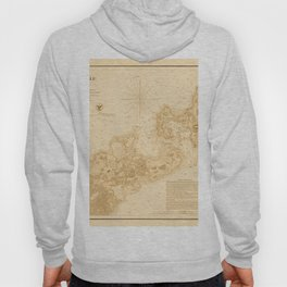 Map of Woods Hole 1857 Hoody