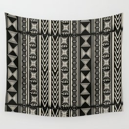 Boho Mud cloth (Black and White) Wandbehang