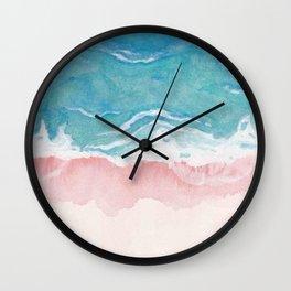 Ombre Beach Wall Clock