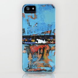 Stallion Blue Modern Painting Abstract Art Landscape iPhone Case