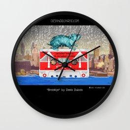 """Brooklyn"" Illustration Denis Dubois Wall Clock"