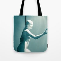 apple Tote Bags featuring Apple by Sébastien BOUVIER