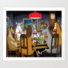 Horses Playing Poker Art Print