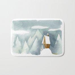 Winter in the Alpes Bath Mat